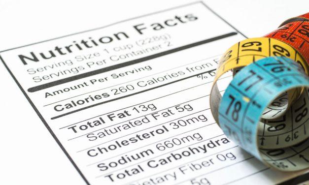Branje označb o hranilnih vrednostih